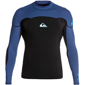 Quiksilver 1.0 Syncro LS Neoshirt B-Lock Uomo, black black/iodine blue iodine